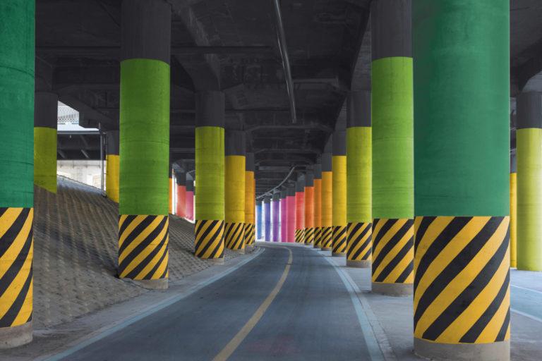 Mise en couleur Dongjak Bridge pour Samsung, Séoul, Corée - A3DC - Atelier 3D couleur - Samsung