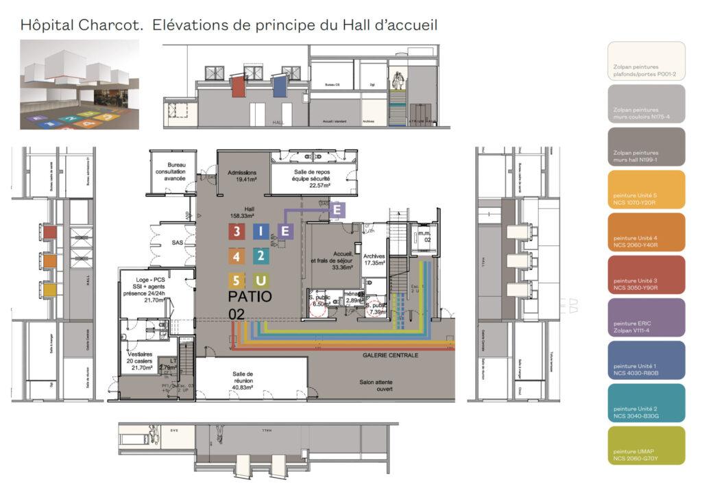 Couleurs & matières hôpital psychiatrique Charcot, Plaisir - <span class='a3dc'>a<span>3</span>dc </span> Atelier 3D couleur